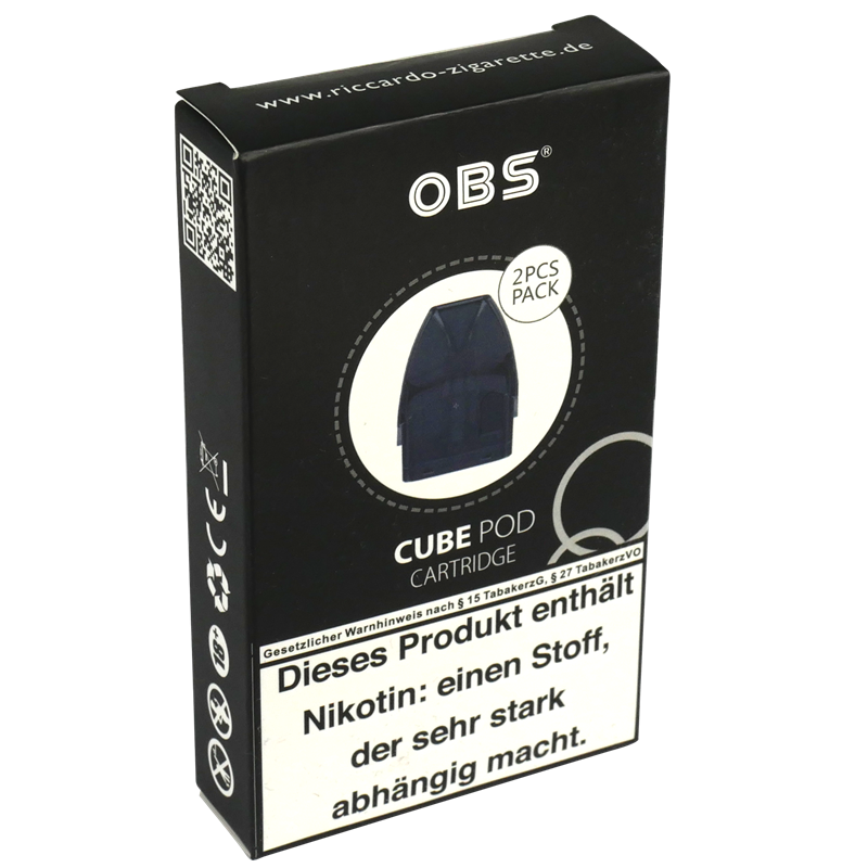 OBS Cube POD - Cartridge - 4,0 ml - 2er Pack