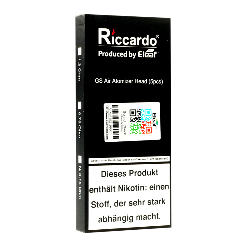 Riccardo® GS Air TC Ni Head 0,15 Sub-Ohm