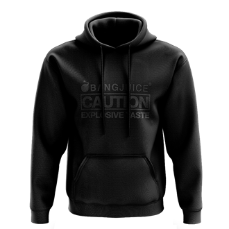Bang Juice Hoodie Black Print Caution StripesMerchandise