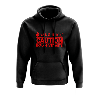 Bang Juice Hoodie Red Print Caution StripesMerchandise