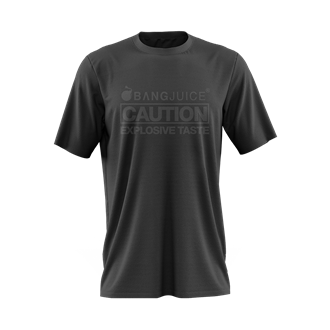 Bang Juice T-Shirt Black Print Caution StripesMerchandise