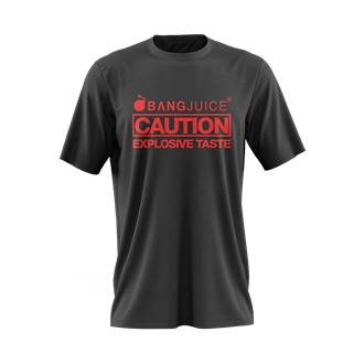 Bang Juice T-Shirt Red Print Caution StripeMerchandise